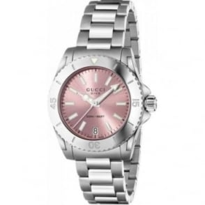 Gucci Ladies Dive Pink Dial Watch YA136401