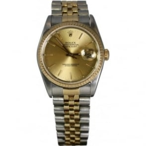 Pre-Owned Rolex Mens Datejust Stainless Steel & Yellow Gold