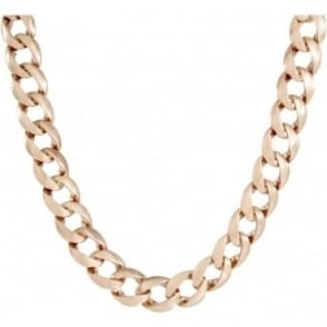 Rose Gold Plated Curb Chain Necklace