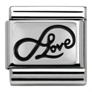 Nomination Infinity Love Writing Charm