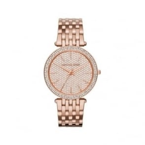 Michael Kors Ladies Rose Gold Darci Watch MK3439