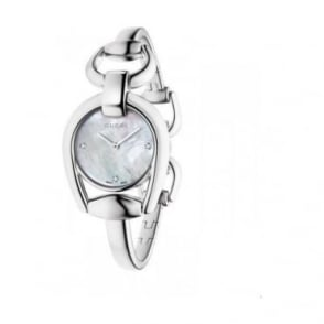 Gucci Ladies Horsebit Diamond Watch - YA139506