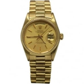 Pre-Owned Rolex Men's 18ct Yellow Gold Day-Date.