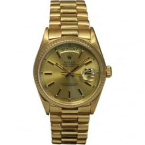 Pre-Owned Rolex Men's 18ct Gold Day-Date