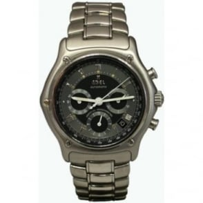 Pre-Owned Ebel Men's Stainless Steel Le Modulor Chronograph Watch