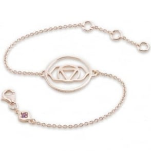 Daisy London Rose Gold Brow Chakra Chain Bracelet - CHKBR1020