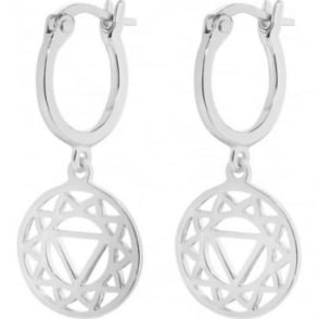 Daisy London Silver Plexus Chakra Drop Earrings - ECHK1003