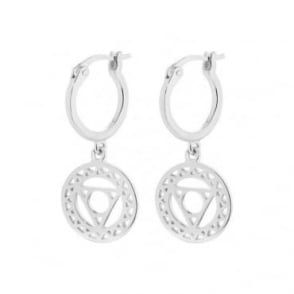 Daisy London Silver Throat Chakra Drop Earrings - ECHK1005
