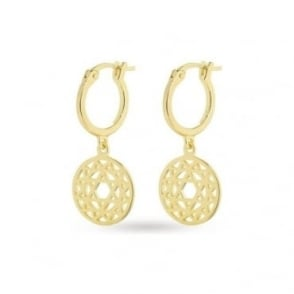 Daisy London Gold Heart Chakra Drop Earrings - ECHK2004