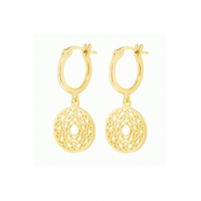 Daisy London Gold Crown Chakra Drop earrings - ECHK2007