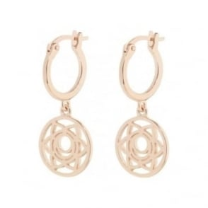 Daisy London Rose Gold Sacral Chakra Drop Earrings - ECHK3002