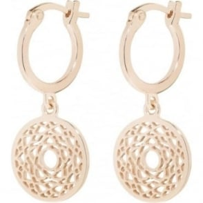 Daisy London Rose Gold Crown Chakra Drop Earrings - ECHK3007