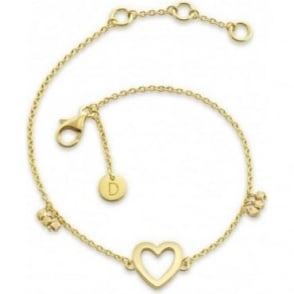 Daisy London Gold Plated Good Karma Open Heart Bracelet