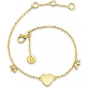 Daisy London Gold Little Heart Good Karma Chain Bracelet