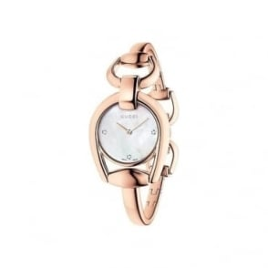 Gucci Ladies Horsebit Diamond Watch - YA139508