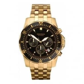 Sekonda Mens Gold Chronograph Watch 1001.27