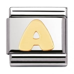 Nomination Classic Gold Letter A Charm - 03010101