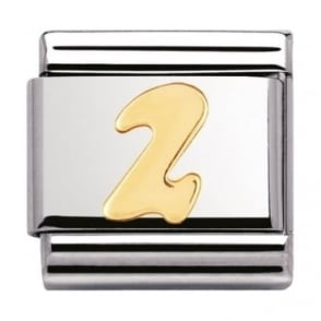 Nomination Classic Gold Number 2 Charm - 03010202