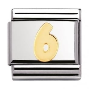 Nomination Classic Gold Number 6 Charm - 03010206