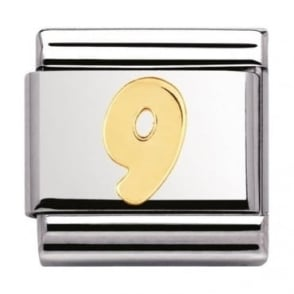 Nomination Classic Gold Number 9 Charm - 03010209