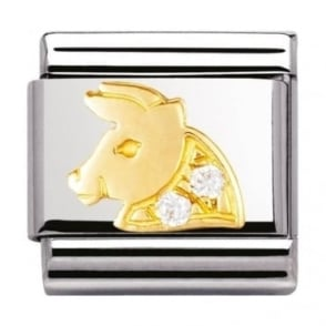 Nomination Classic Gold Crystal Zodiac Taurus Charm - 03030202