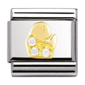 Nomination Classic Gold Crystal Zodiac Virgo Charm - 03030206