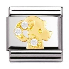Nomination Classic Gold Crystal Zodiac Capricorn Charm - 03030210