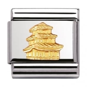 Nomination Classic Gold Pagoda Charm