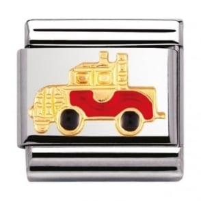 Nomination Classic Gold And Enamel Truck Charm