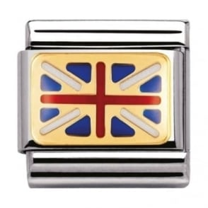 Nomination Classic Gold And Enamel Great Britain Flag