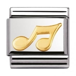 Nomination Classic Gold Music Note Charm