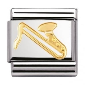 Nomination Classic gold Sax Charm