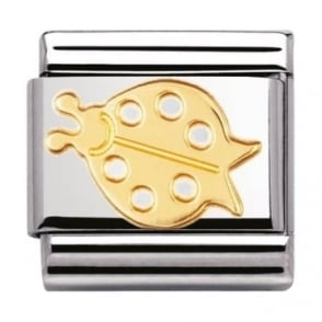 Nomination Classic Gold Lady Bug Charm - 03011403