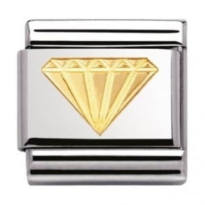 Nomination Classic Gold Diamond Charm