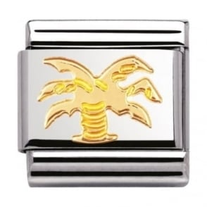 Nomination Classic Gold Palm Tree Charm