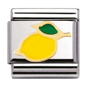 Nomination Classic Gold and Enamel Lemon Charm
