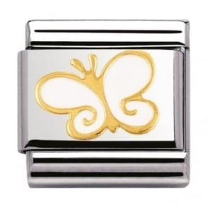 Nomination Classic Gold Butterfly Charm - 03027803