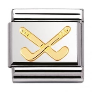 Nomination Classic Gold Hockey Charm
