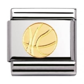 Nomination Classic Gold Basketball Charm