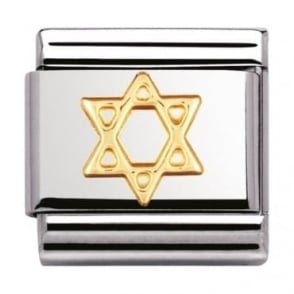 Nomination Classic Gold Star Of David Charm - 03010505