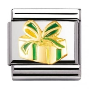 Nomination Classic Gold and Enamel Gift Charm