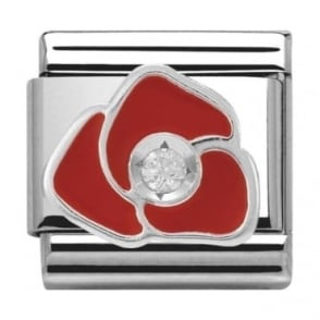 Nomination Classic Silver Daily Life Red Rose