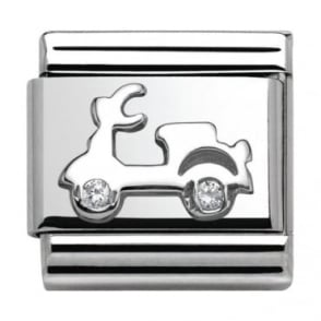 Nomination Classic Silver Around The World Vespa with CZ