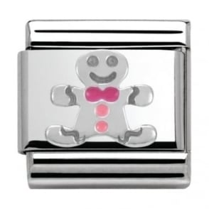 Nomination Sterling Silver Christmas Gingerbread Man