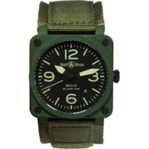 Pre Owned Bell & Ross  Mens BR03-94 Military Watch