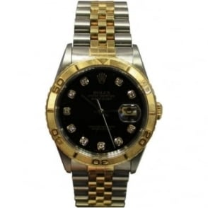Pre-Owned Rolex Men's Bi-Metal Diamond Dot Dial DateJust Watch