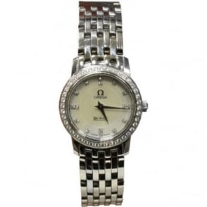 Pre-Owned Omega Ladies Stainless Steel Deville, Diamond Bezel and Dial