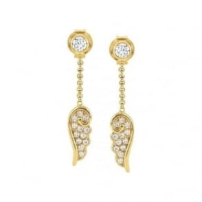 Nomination Angel Wings Pendant Earrings - Yellow Gold