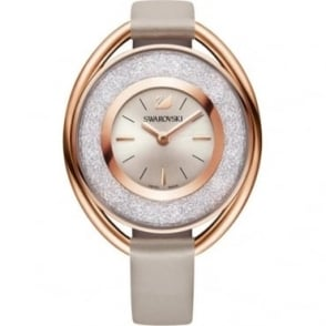 Swarovski Crystalline Oval Rose Gold Tone Watch 5158544