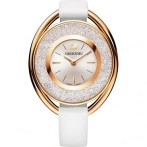 Swarovski Crystalline Oval White Tone Watch 5230946
